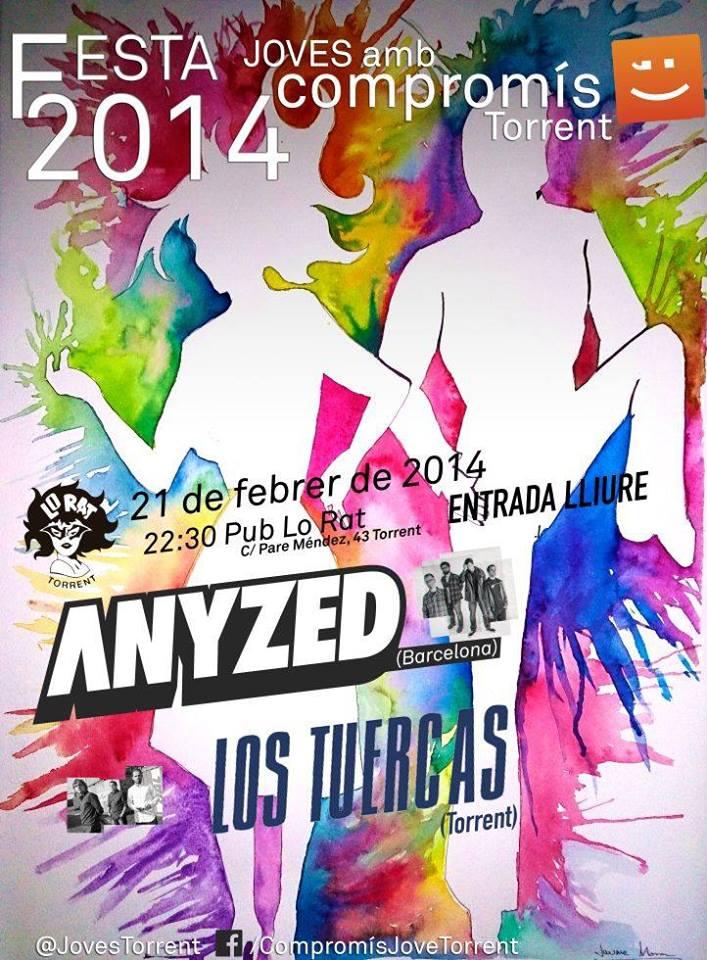 El 21 de Febrer vine a la festa de @JovesTorrent a les 22:30 en el pub Lo Rat