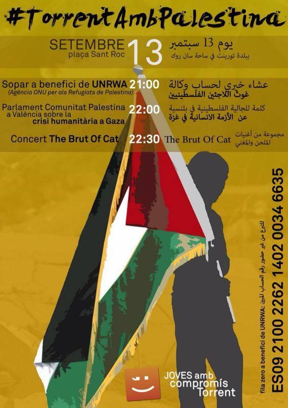 sopar popular de suport a Palestina